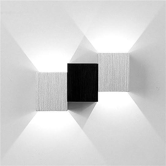 Icoco Applique Murale Intérieur Led Moderne Lampe Carrée 3W Pour