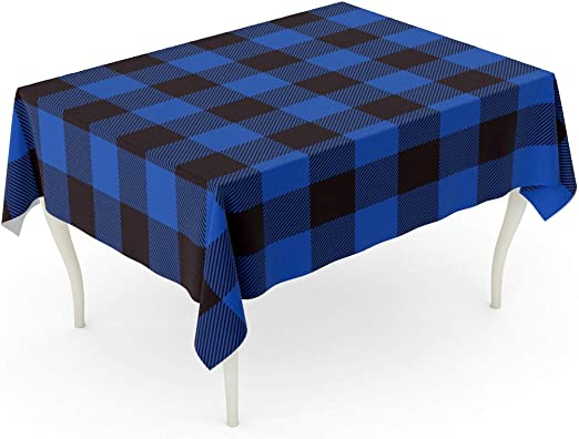 Ridgefield Home Fabric Cotton Christmas Holiday Scottish Plaid Tartan Pattern Tablecloth Red Black Green Fringed Edges 60 Inches 60 Inches