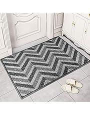 Indoor Doormat,WONDAY Front Door Mat Low-Profile, Non-Slip Water Absorbent Resist Dirt Entrance Rug, Machine Washable Waterproof Inside Mat Area Rug for Entryway