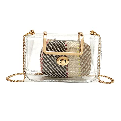 Collection Here Chain Women Transparent Bag Jelly Crossbody Bags For Women 2019 Summer Holiday Casual Ladies Hand Bags Female Clear Shoulder Bag Shoulder Bags