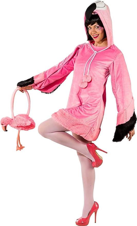 Fancy Me Disfraz de Flamenco Rosa para Mujer, para Despedida de ...