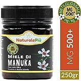 Miele di Manuka 500+ MGO (UMF 15+) 250 grammi | Prodotto in Nuova Zelanda, Puro e Naturale al 100% | Contenuto di Metilgliossale Certificato | Ricco di Proprietà Antibatteriche, Migliora le Difese Immunitarie | Miele di Manuka Attivo e Grezzo