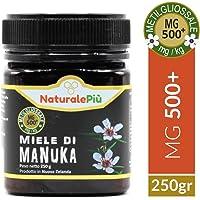 Miele di Manuka 500+ MGO (UMF 15+) 250 gr | Prodotto in Nuova Zelanda, Attivo e Grezzo, Puro e Naturale al 100% | Metilgliossale Testato |