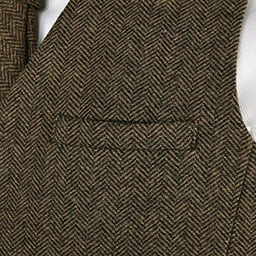 Bleu Gilet Foncé Et Café Laine Gris Marine En Voboom® Homme Vert Kaki Pour Sombre Tweed gHqvH