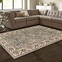 Superior Lille Area Rug Collection, 8mm Pile Height with Jute Backing, Anti-Static, Water-Repellent, Grey - 2 7 x 8 Runner