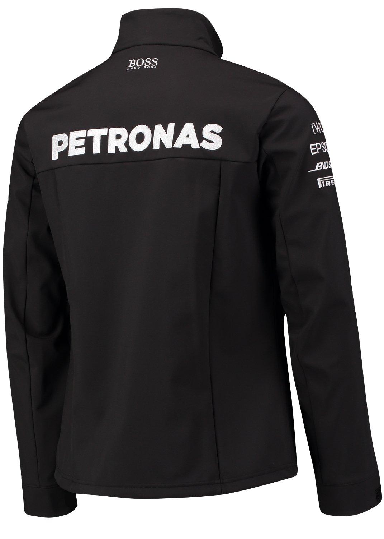 Mercedes AMG F1 Replica Team Soft Shell Chaqueta Negro Oficial 2017: Amazon.es: Deportes y aire libre