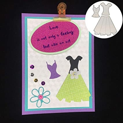 Amazon.com: Troqueles de corte – 3 piezas plisado falda ...
