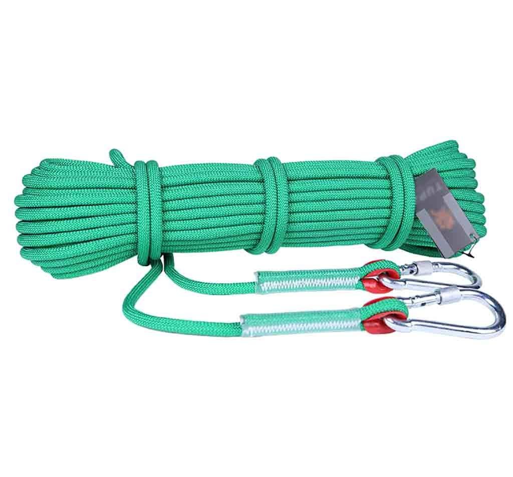 クライミングハーネス ポリプロピレンレスキューエスケープロープ、太い8ミリメートルクライミング安全ロープ、マルチカラーオプションの屋外延長ロープ (Color : A, Size : 50 meters)