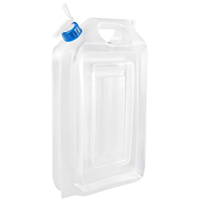 Bidon à eau pliable 2–Bidon à 16L Accordéon, robinet On/Off, Polyéthylène