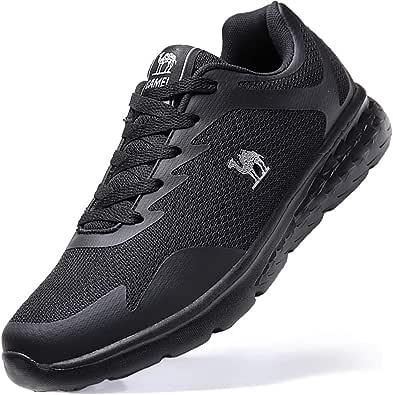 CAMEL CROWN Zapatillas Deporte de Running para Hombres Zapatillas de Deporte Ligeras y Transpirables Zapatillas de Deporte Atléticas Ocasionales(Negro,41EU=Largo del pie 10.04