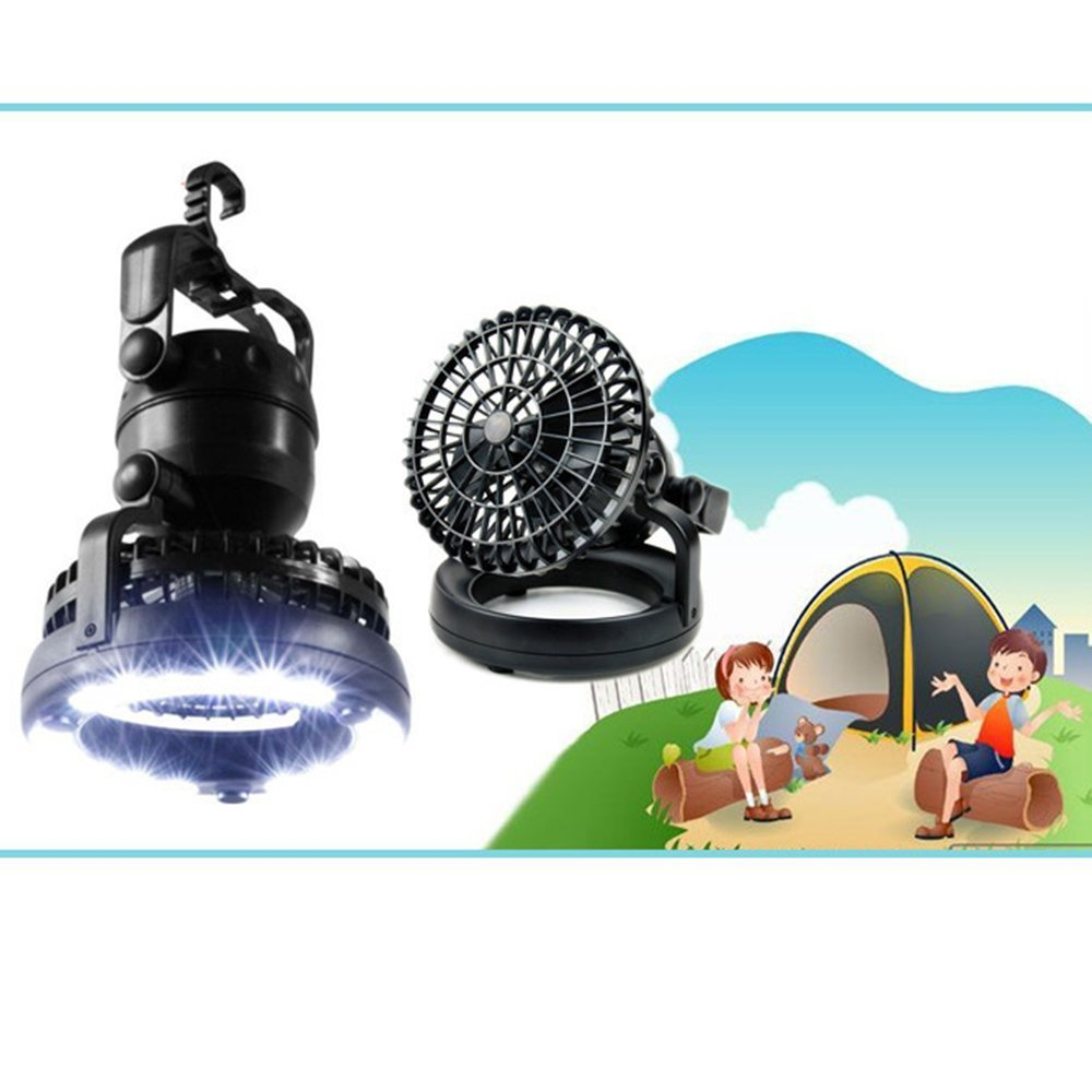 AGPTEK 2-in-1 18 LED Camping Fan Lantern for Outdoor and Emergencies