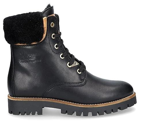 PANAMA JACK Talvi Igloo - Botas de Nieve de Cuero Mujer, Color Negro, Talla 38 EU: Amazon.es: Zapatos y complementos