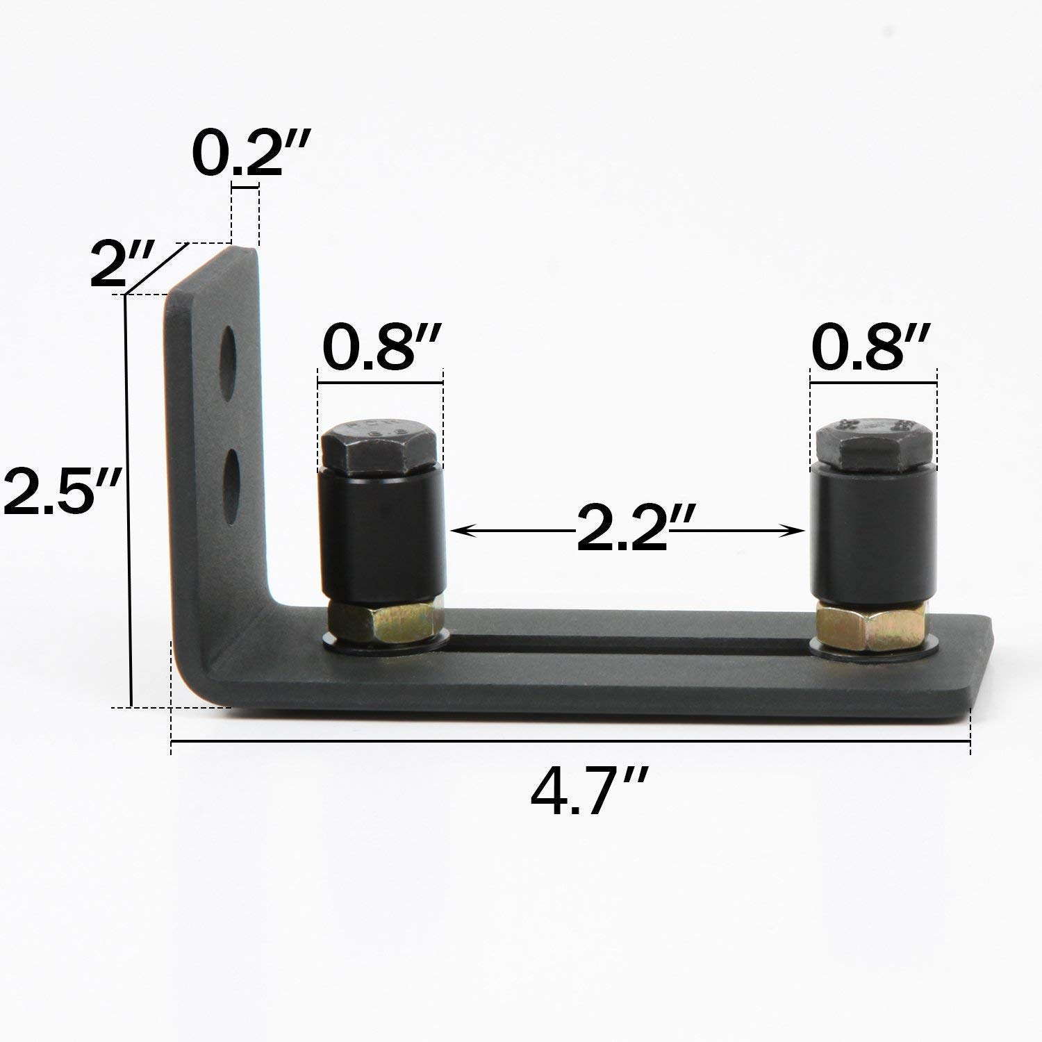 Black HOMEE Small Size Rolling Sliding Wood Latch Privacy Lock for Pocket Doors Garage and Shed Wood Gates Barn Door Lock
