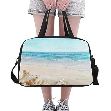 Bolsos de mujer Paisaje con conchas en la playa tropical ...