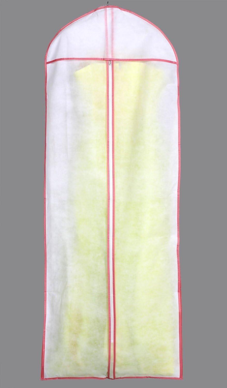 HIMRY Traspirante Borsa Porta Abiti Lungo Termine Respirabile Stoccaggio per Vestiti da Sposa//Vestiti//Giacche//Cappotti KXB106 White Bianco 155cm x 57cm Sacca per Indumenti