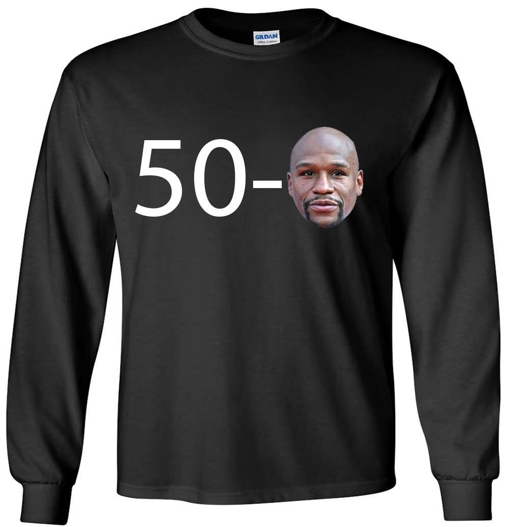 The Silo Long Sleeve Black Mayweather 50-0 T-Shirt