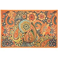 Kitchen Rugs Area Rugs 2 ft by 3 ft Bamboo for Indoor or Outdoor Patio Rug Paisley