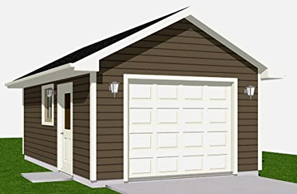 Garage Plans: 1 Car Garage Plan 280-1 - 14' x 20' - one car ... on single story cottage plans, 1 car garage apartment plans, 1 car attached garage plans, single car workshop, single garage doors prices, single story house plans with breezeway, 2 car garage conversion plans, 16x24 shed with loft plans, single car shed, hunting cabin plans, 2 car garage duplex plans, front porch plans, fireplace plans, one car garage door plans, single car carport plans, homemade workbench plans, single garage apartment plans, 1 car garage conversion plans, single garage door size, single bed plans,