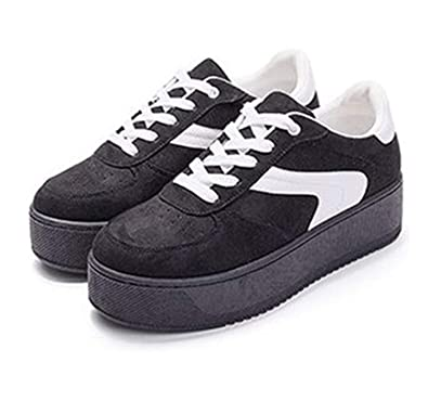 Carolyn Jones Women Casual Shoes Height Increasing Platform Sneakers Shoes Women Zapatillas Mujer Black 5.5