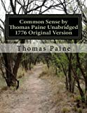 Image of Common Sense by Thomas Paine Unabridged 1776 Original Version