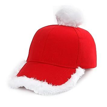 Nofonda Gorra Béisbol Roja de Fiesta de Navidad Sombrero Unisexo de  Invierno Blanco para Mujer Hombre 7289df321dd