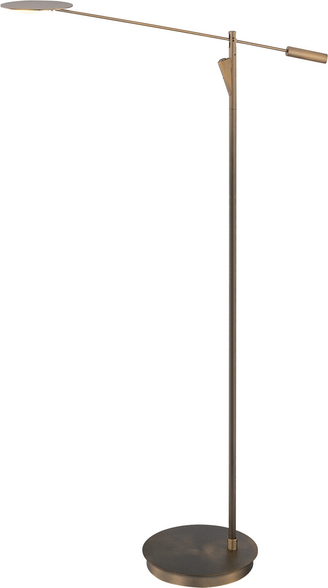 ET2 E41009-BZ Eco-Task LED Floor Lamp, Bronze Finish, Glass, PCB LED Bulb, 8W Max., Dry Safety Rated, 2700K Color Temp., Standard Dimmable, Shade Material, 1650 Rated Lumens