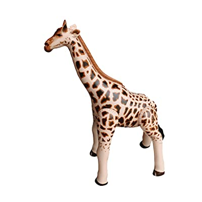 "Jet Creations Inflatable Giraffe Animals, 36"" Tall Stuffed Animals Pool Party Decoration Birthday AN-GIR3,Tan/Brown: Toys & Games"