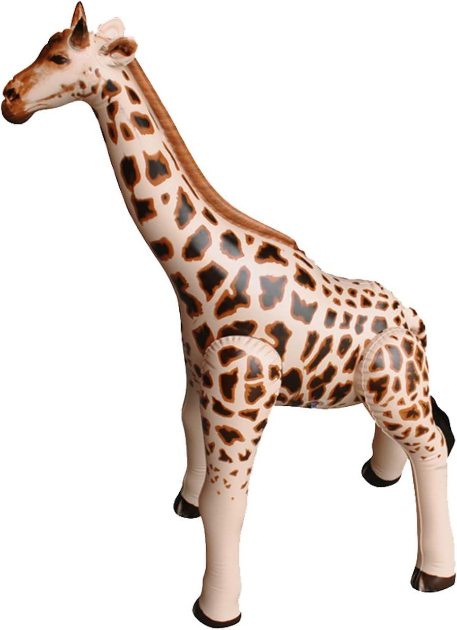 "Jet Creations Inflatable Giraffe Animals, 36"" Tall Stuffed Animals Pool Party Decoration Birthday AN-GIR3,Tan/Brown"