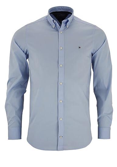 Tommy Hilfiger Hombre Slim Fit Tiempo Libre Camisa Stretch Poplin ...