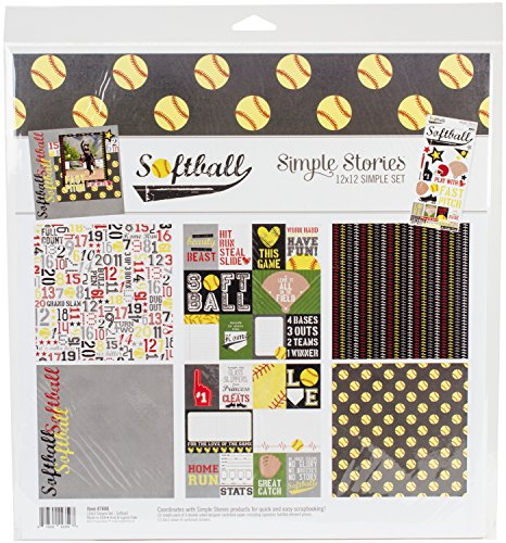 Simple Stories 7880 Softball 12'' x 12'' Collection Kit by Simple