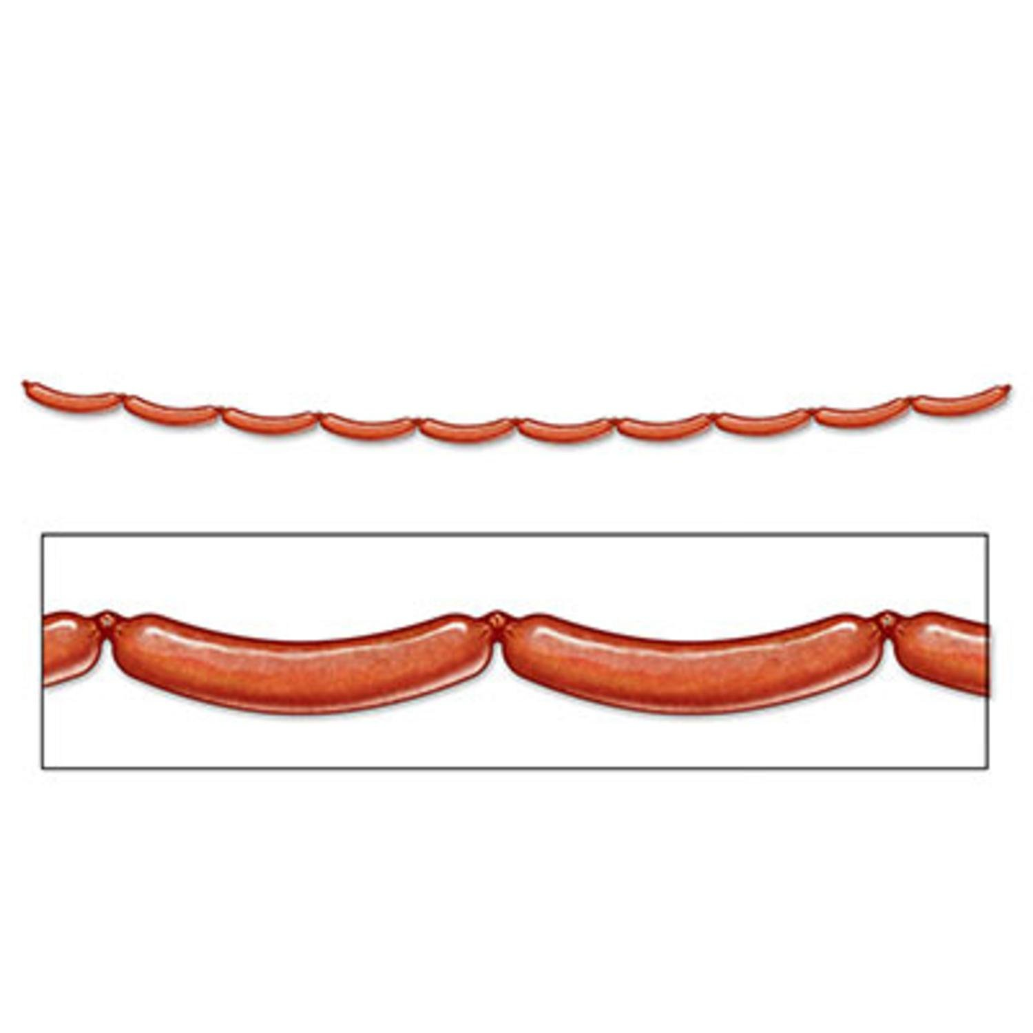 Pack of 12 Bratwurst Jointed Streamer Oktoberfest Party Decorations 8'
