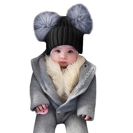 5f28032b99ab65 WARMSHOP Baby Hat for Toddler Boys Girls 1-4 Years Old 🎅 Fashion Winter  Warm