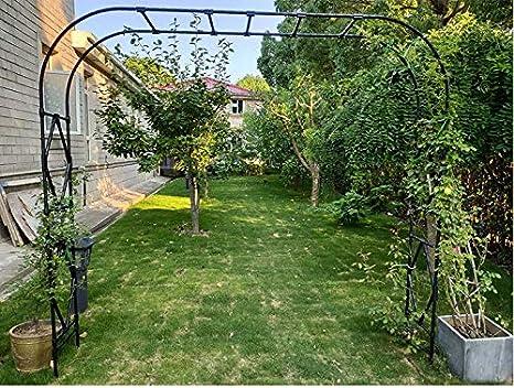 XLOO De Gran tamaño, Arco de jardín, cenador de jardín Resistente a la corrosión y al óxido, tubería de Acero Engrosada, decoración de jardín, decoración de Ceremonia de Fiesta de Arco de