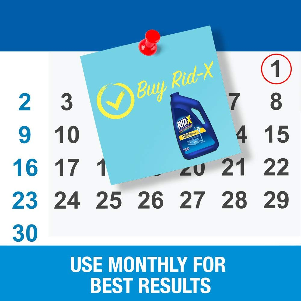 RID-X Septic Tank System Treatment, 6 Month Supply Liquid, 48oz 5 Pack by Rid-X (Image #3)
