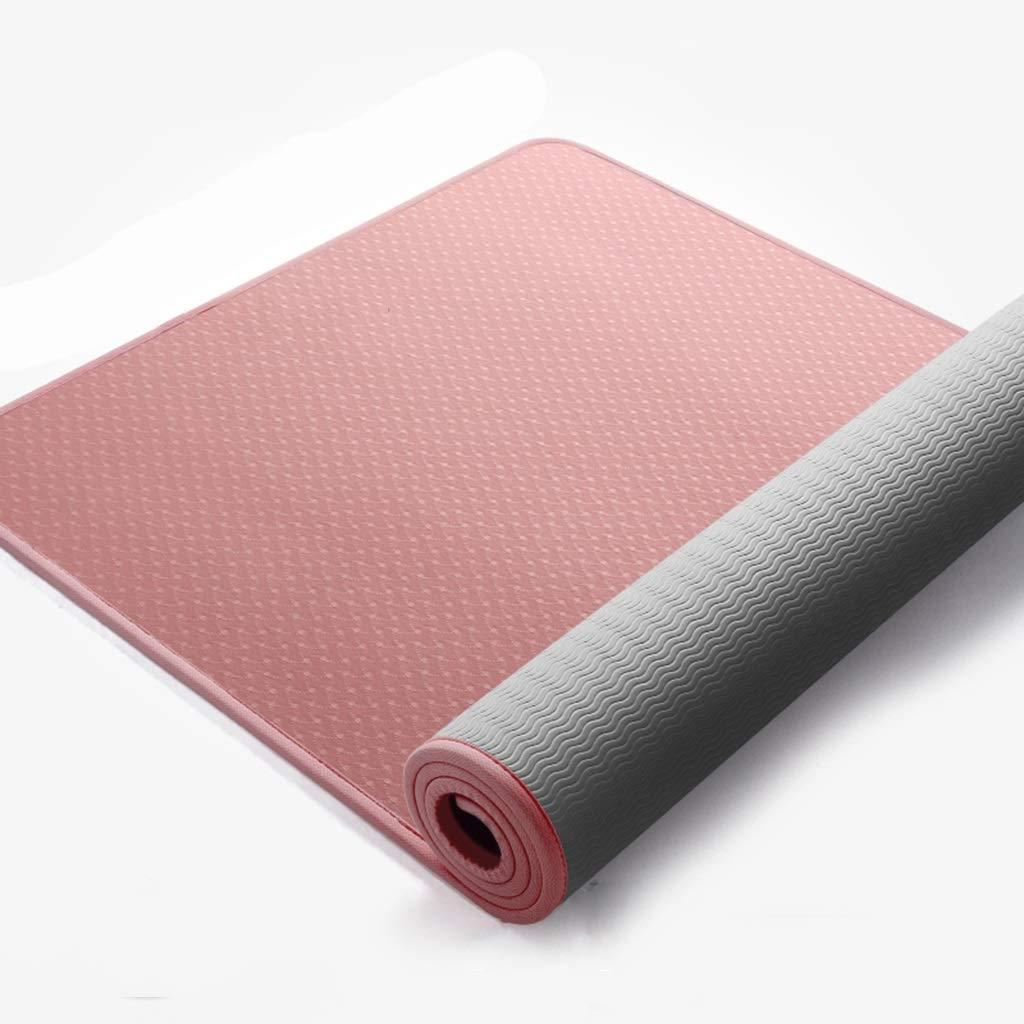 KKCD Eco Yoga-Matte Extra Large Rutschfeste Pilates-Matte Starke TPE Trainings-Trainingsmatte mit freiem Tragegurt für den Fitnessbereich