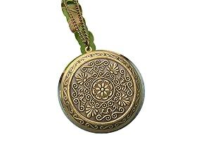 Large Round Locket Necklace Vintage Style Picture Locket Romantic Long Necklace Secret Hiding Place