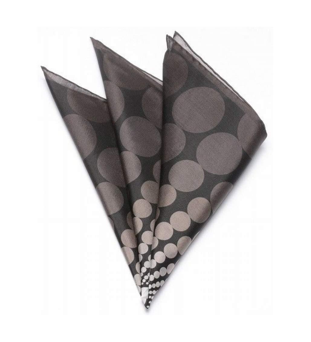 TOM FORD Floating Circles Grey Pocket Square Handkerchief Pure Silk