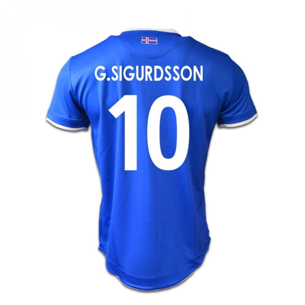 2016-17 Iceland Home Football Soccer T-Shirt (Gylfi Sigurdsson 10) UKSoccershop