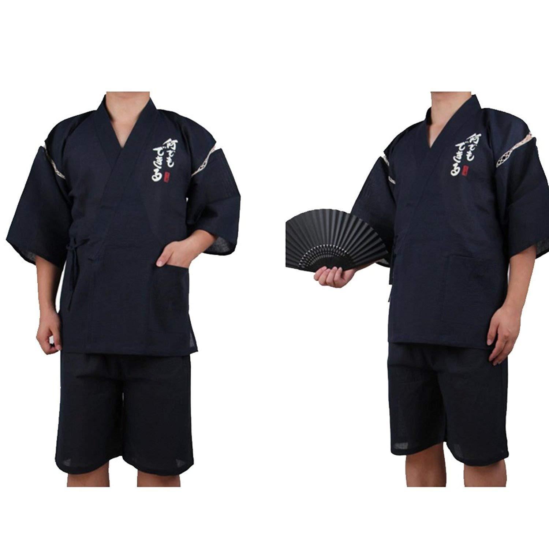 Traje de estilo japonés Jinbei para hombre Kimono Pijama XL-11: Amazon.es: Ropa y accesorios