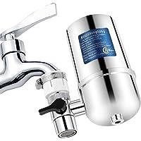 Filtro agua grifo Grifo Filtros para Grifo de Ahorro de Acero Inoxidable 304, Sistema de filtración de Agua Saludable y…