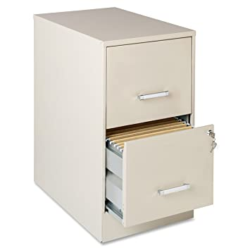 Lorell 16870 2 Drawer Mobile File Cabinet, 22 Inch