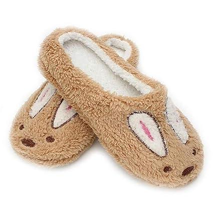 eeda348d5a48b Amazon.com: TANGOGO Women's Winter Corduroy Slippers Warm Soft Plush ...
