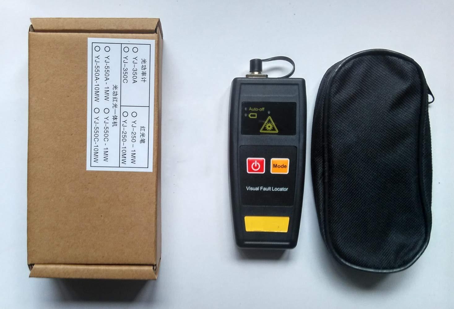 10mW Mini Fibre optique Source de lumi/ère Localisateur visuel de d/éfauts Testeur de fibre optique Testeur m/ètre 10km