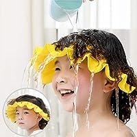Baby Shower Cap Silicone Shower Visor Bathing Hat, Adjustable Shower Cap Kids, Infants Soft Protection Funny Safety…