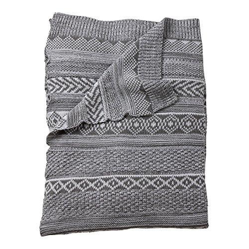 Ethan Allen   Disney Sweater Stitch Knit Stroller Blanket, M