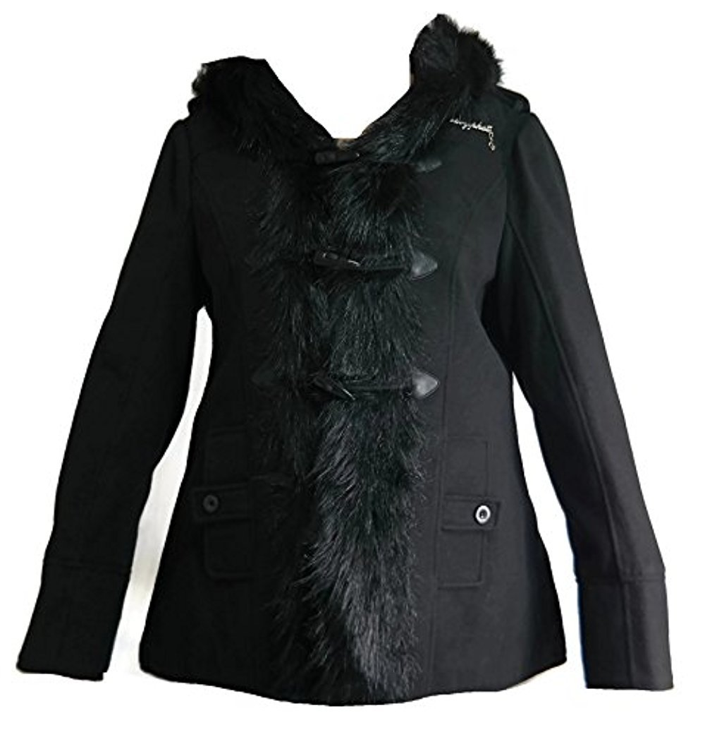 Baby Phat Women's Winter Coat Jacket with Hood, Black, Small by Baby Phat