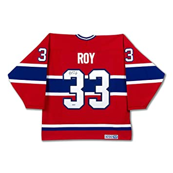 e4b4ad62f Patrick Roy Autographed Authentic Heroes of Hockey Red Montreal ...