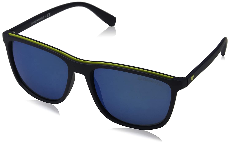 Emporio Armani 0ea4109 563855 57 Gafas de sol, Matte Blue, Hombre