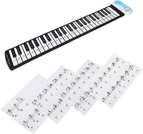 Pegatinas de piano extraíbles, teclas electrónicas, etiquetas para teclados de 49/61/76/88 para niños y principiantes, piano o teclado