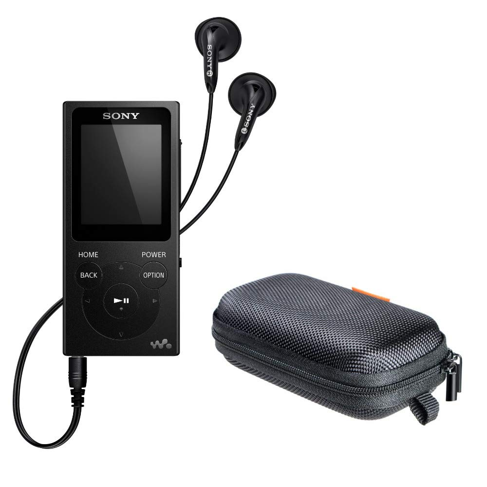 Sony NWE394/B 8GB Walkman MP3 Player (Black) with Hard Carrying Case Bundle by Sony (Image #1)